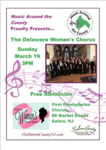 Music around the county presentes the delaware women's chorus on March 19, 2017